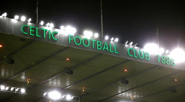 The disturbance broke out at Celtic Park (Jane Barlow/PA)