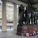 The Bomber Command Memorial in London (RAF Benevolent Fund/PA)