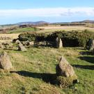 The 'recumbent stone circle' when it was initially discovered (Aberdeenshire Council/PA)
