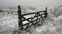 The snow warning is in effect until late on Monday night (Andrew Milligan/PA)