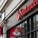 Santander Bank signage above a branch, London