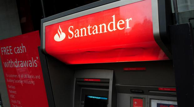 A total of 140 Santander branches are to be closed (Rui Vieira/PA)