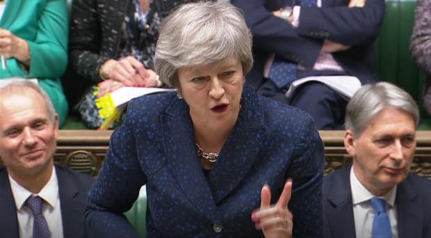 Theresa May spoke out against the prospect of a 'divisive' second independence referendum. (House of Commons/PA)