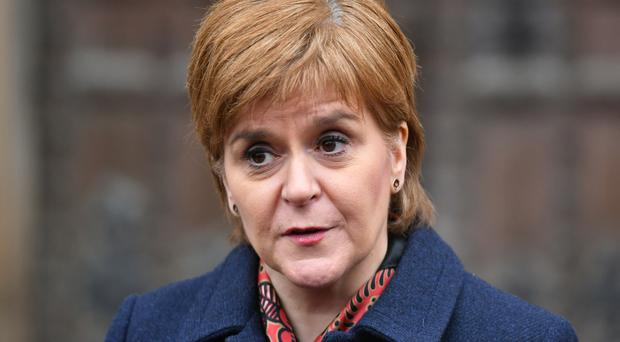 The Prime Minister is 'running scare' of a second Scottish independence referendum, Nicola Sturgeon said. (Dominic Lipinski/PA)