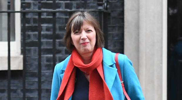 The TUC's Frances O'Grady leaves 10 Downing Streetl, London, following talks with the Government over Brexit. (Stefan Rousseau/PA)