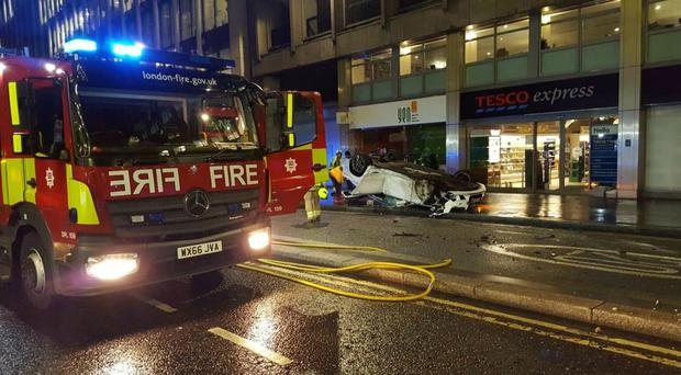 The driver was arrested (City of London Police/PA)