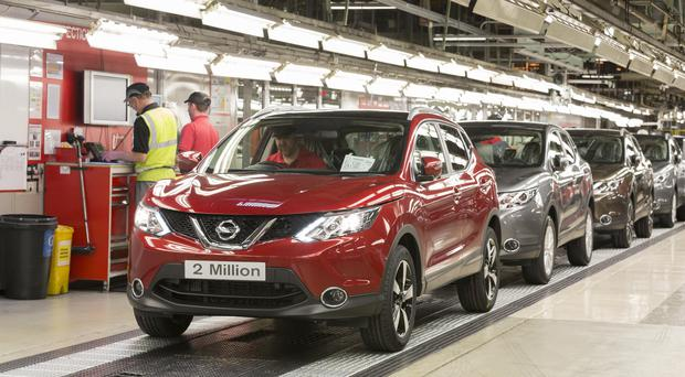 The two millionth Qashqai car produced at the Sunderland plant (Nissan/PA)