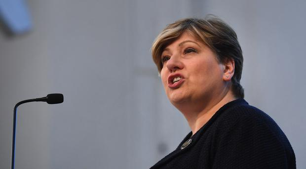Shadow foreign secretary Emily Thornberry speaking at the Fabian Society new year conference at Friends House in London.