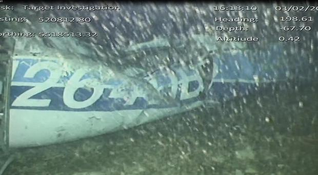 The fuselage of the plane seen under water (AAIB/PA)