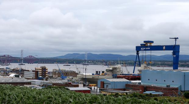 A total of 150 jobs are to be axed at Rosyth shipyard (Andrew Milligan/PA)