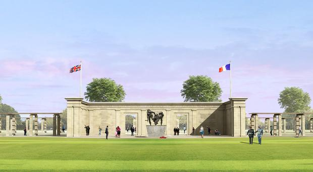 Artist's impression issued by the Normandy Memorial Trust (NMT) of a front view of the charity's proposed D-Day Memorial (Liam O'Connor Architects Ltd/PA)