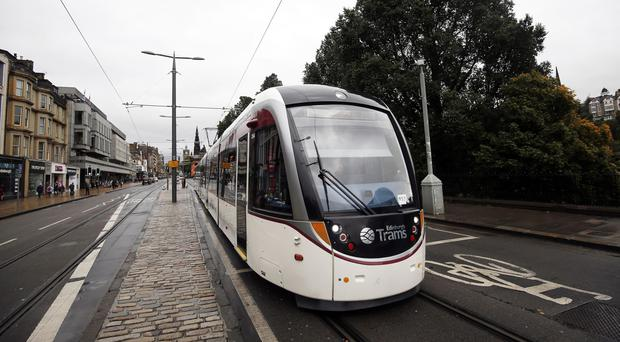 The extension to Newhaven would be funded through future tram fare revenues (Danny Lawson/PA)