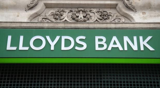 A branch of Lloyds Bank on Oxford Street, central London.