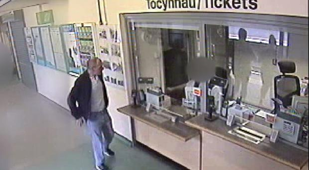 A CCTV image of child killer David Gaut 54, hours before he was allegedly murdered (Gwent Police)