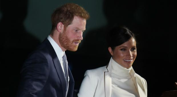The Duke and Duchess of Sussex arrive at the Natural History Museum (Yui Mok/PA)