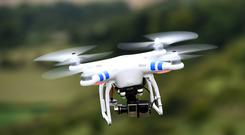A drone was involved in a near miss with a plane near Glasgow Airport (Andrew Matthews/PA)