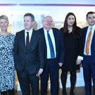 MPs (left to right) Ann Coffey, Angela Smith, Chris Leslie, Mike Gapes, Luciana Berger, Gavin Shuker and Chuka Umunna (Stefan Rousseau/PA)