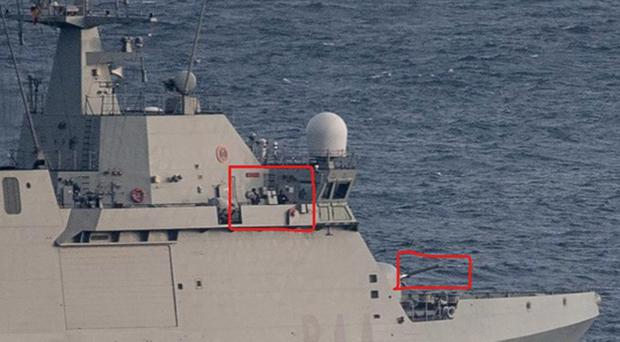 The warship's crew can be heard in an audio recording of a radio exchange telling vessels to leave Spanish waters (David Parody/PA)