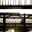 Traffic crossing the River Tyne over some of Newcastle's well known bridges (Owen Humphreys/PA)