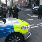 Police activity in Euston Street (Tom Horton/PA)