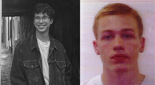 Erwan Ferrieux, left, and Hugo Palmer are missing from a beach in Australia (New South Wales Police/PA)