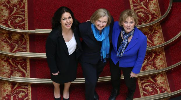 Conservative MPs (left to right) Heidi Allen, Sarah Wollaston and Anna Soubry (Jonathan Brady/PA)