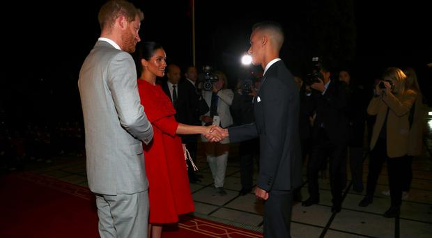The Duke and Duchess of Sussex arrive in Morocco (Hannah Mackay/PA)