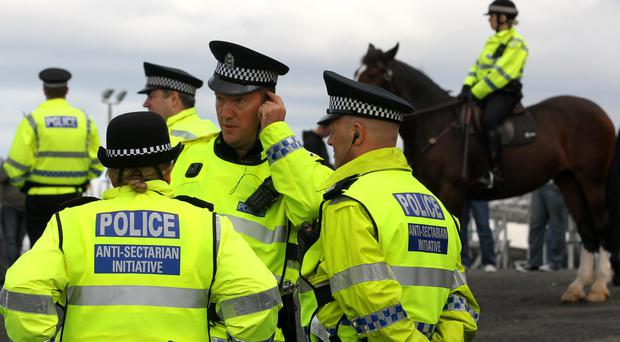 Police are said to be facing rising sectarianism and abuse at football (Andrew Milligan/PA)