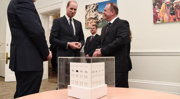 The Duke of Cambridge during a visit to the Foreign and Commonwealth Office to open the Mayhew Theatre (Eamonn M McCormack/PA)