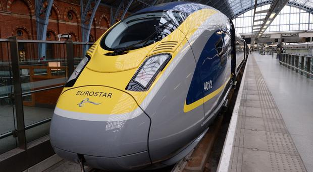 Eurostar has played down warnings that a no-deal Brexit could lead to mile-long queues at its St Pancras International station (Stefan Rousseau/PA)