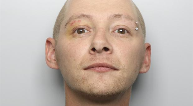 Damion Harris was sentenced to 21 years after starting the fatal hotel fire at Ty Belgrave House (Dyfed Powys Police/PA)
