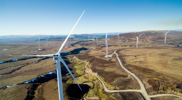 Nearly 40% of Northern Ireland's electricity use in 2018 came from renewable sources. (Mars/PA)