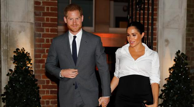 The Duke and Duchess of Sussex are preparing for the birth of their first child (Tolga Akmen/PA)