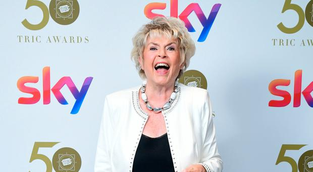 Gloria Hunniford attends the TRIC Awards 2019 50th Birthday Celebration, held at the Grosvenor House Hotel, London