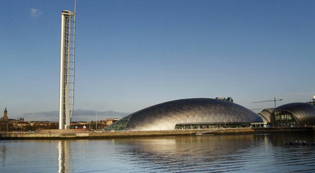 Science Minister Richard Lochhead announced funding for schience hubs at the Glasgow Science Centre (Danny Lawson/PA)