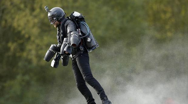 Gravity Industries' multi-gas turbine engine Jet Suit has been awarded its patent claim (Tim Ireland/PA)