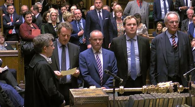 MPs announcing the result of the Brexit vote (PA)