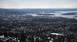 A view over the city of Oslo from the top of the Holmenkollen ski jump (Kirsty O'Connor/PA)
