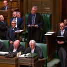 Speaker John Bercow makes his statement to the Commons yesterday