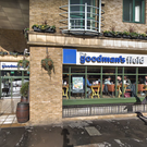 The Goodman's Field pub which was hit by a car (Google)