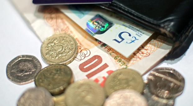 Public sector net borrowing, excluding state-owned banks, fell by £1bm in February to £200m, the Office for National Statistics said (Yui Mok/PA)
