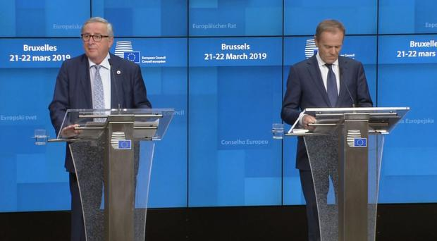 European Commission President Jean-Claude Juncker and European Council president Donald Tusk (European Council/PA)