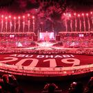 Fireworks go off at the 2019 Special Olympics World Games closing ceremony (Special Olympics World Games Abu Dhabi 2019/PA)