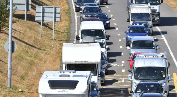 Pro-Brexit campaigners were trying to ensure the UK leaves the EU on March 29 by causing gridlock on motorways and A roads using a convoy of slow-moving vehicles (PA Images).