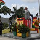 The Prince of Wales attends an official welcome ceremony in Grenada (Arthur Edwards/The Sun/PA)