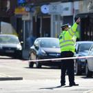 Police activity in Marsh Road, Pinner, north-west London after a man died following a stabbing incident (Aine Fox/PA)