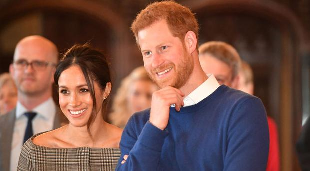 Harry and Meghan may decide to follow Windsor tradition when naming their baby (Ben Birchall/PA)