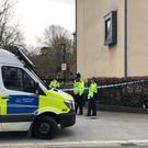 Police at the scene of the fatal stabbing (Aine Fox/PA)