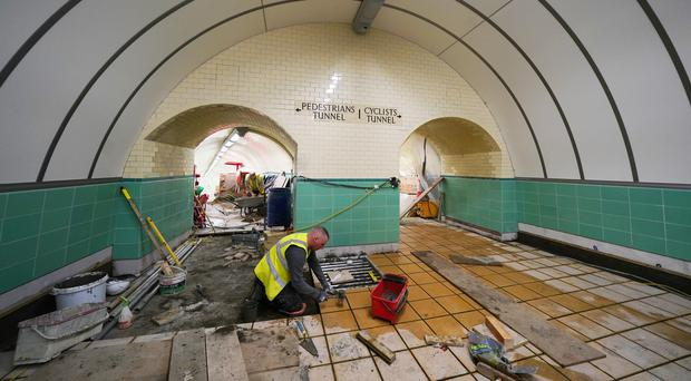 Work is coming to an end on the £16m restoration project (Owen Humphreys/PA)
