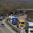 The M20 near Maidstone in Kent during Operation Brock (Gareth Fuller/PA)